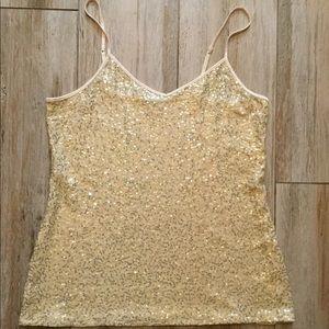 Express gold sequin cami